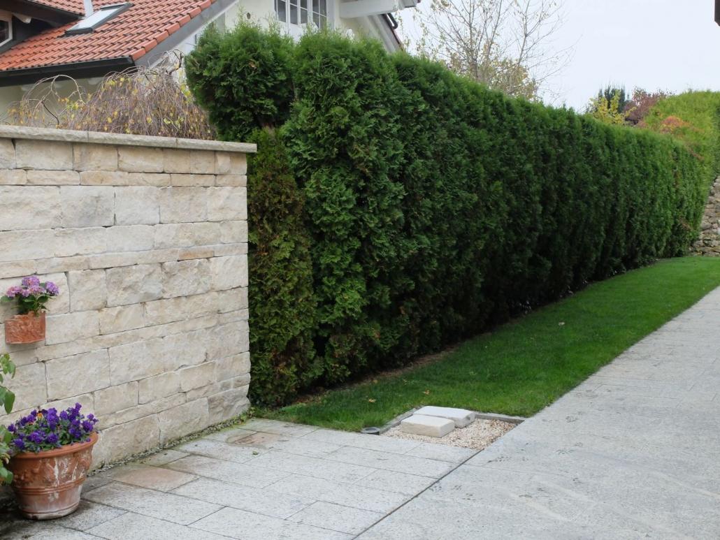 Gartenmauer Bau München